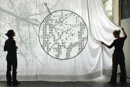 ASCII Art Tree Curtain - www.vubx.com | ASCII Art | Scoop.it