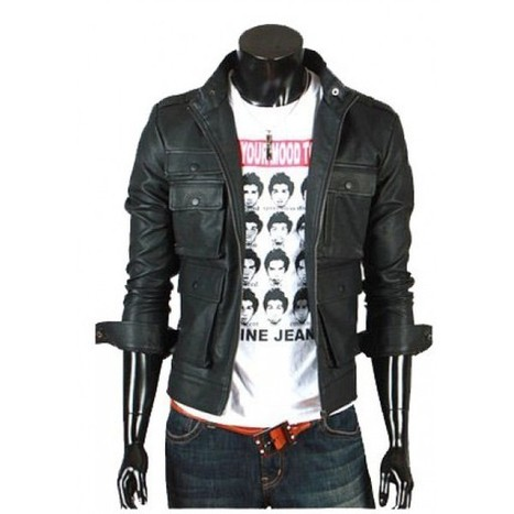 Ms Men's Expressive Black Biker Leather Jacket | Adidas TT10 Black Hockey Stick | Scoop.it
