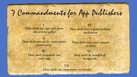 7 Commandments for Mobile App Developers - Openxcell   Latest Technology Trends   Scoop.it