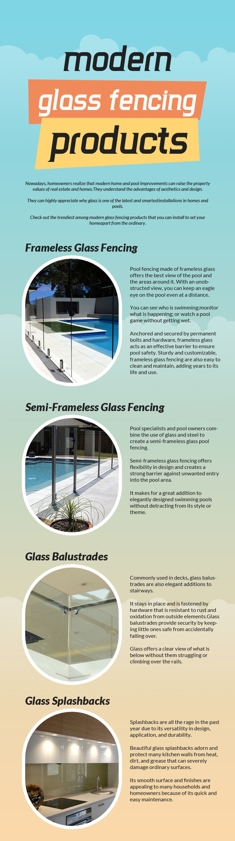 Modern Glass Fencing Products | Glass Fencing | Scoop.it