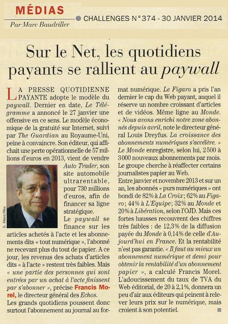 Sur le Net, les quotidiens payants se rallient au paywall   Les médias face à leur destin   Scoop.it