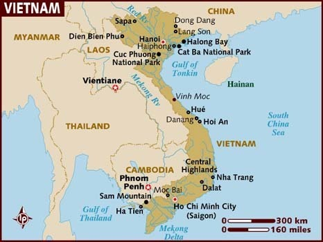Vietnam Map | The Girl In The Picture: The Story of Kim Phuc, the Photograph, and the Vietnam War | Scoop.it