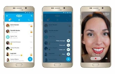 Skype pour Android : l'application arbore enfin un nouveau design - Frandroid | Geeks | Scoop.it