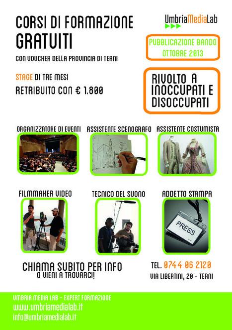 Umbria Media Lab - Corsi gratuiti di media, tv, cinema e teatro con voucher formativi della provincia di Terni   Corsi di formazione a Terni   Scoop.it