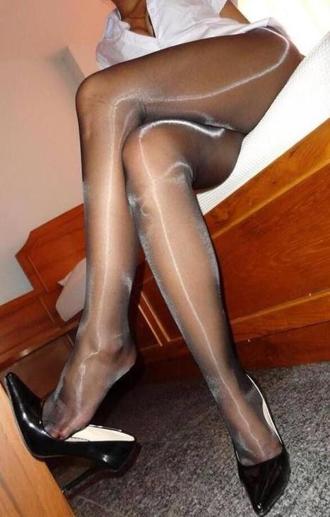 Glossy pantyhose videos mature free