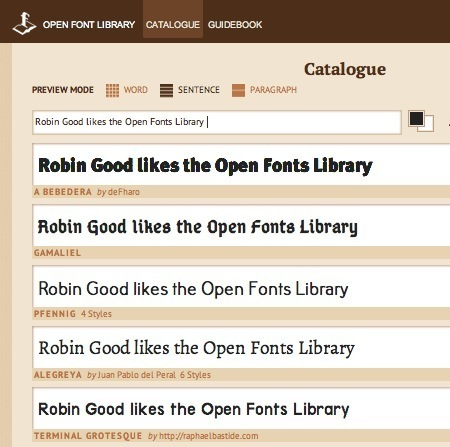 Free Quality Digital Fonts Available for All in the Open Font Library | Web Development and Web Tools | Scoop.it