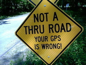 Sign: 'Your GPS is wrong' - Cabinet.com | Mrs. Watson's Class | Scoop.it