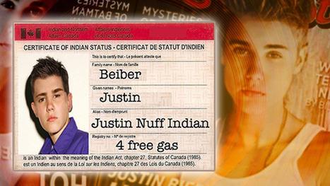 """Part Indian"" (or is it Inuit?) Justin Bieber faces online backlash over ""free gas"" claim | APTN National News | AboriginalLinks LiensAutochtones | Scoop.it"
