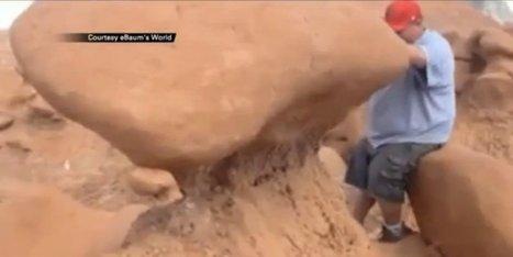 WATCH: Scout Leaders Destroy Ancient Rock Formation | Tech Challenge | Scoop.it