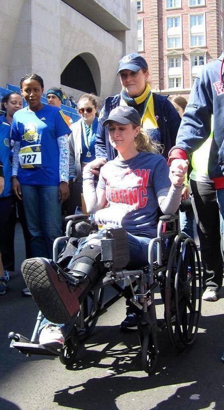 Boston Bombing Survivor Crosses This Year's Finish Line on Her New Prosthetic Leg   Le It e Amo ✪   Scoop.it