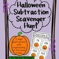 Halloween Subtraction Scavenger Hunt: 3 digit subtraction with regrouping | Subtraction | Scoop.it