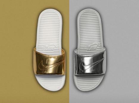"Nike Benassi Solarsoft Slide ""Liquid Metal Pack"" • EQUNIU   Street Fashion   Scoop.it"
