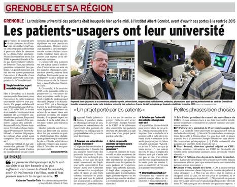 Les patients construisent leur université à Grenoble | patient expert | Scoop.it