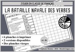A1/B1- Bataille navale des verbes - Fle.mondolinguo.com | FLE enfants | Scoop.it