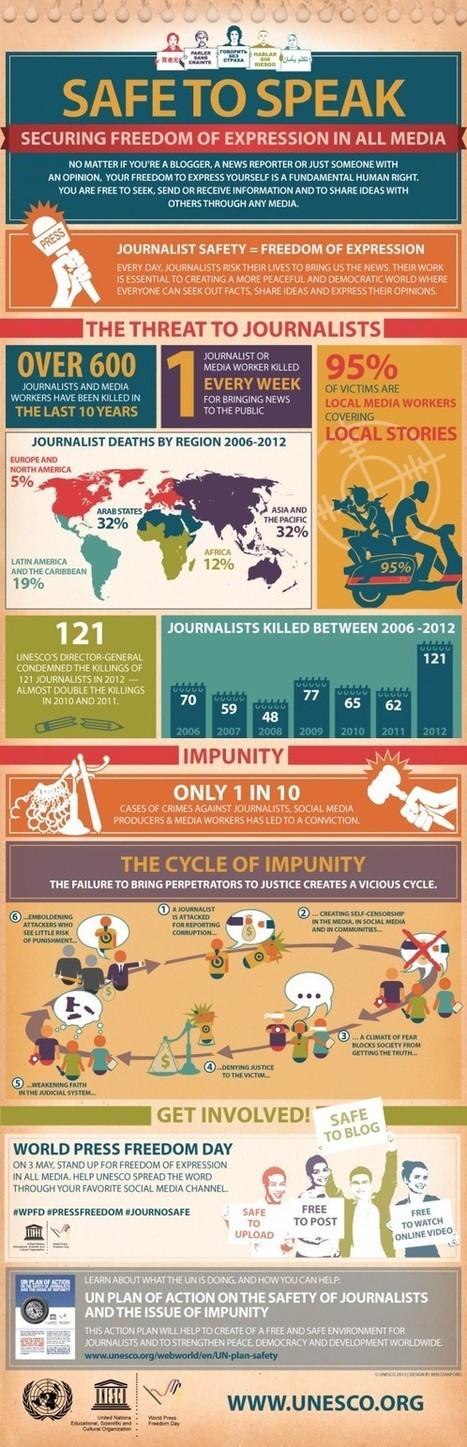 600 journalists killed in the last decade: UNESCO (Infographic) | Social Media Slant 4 Good | Scoop.it