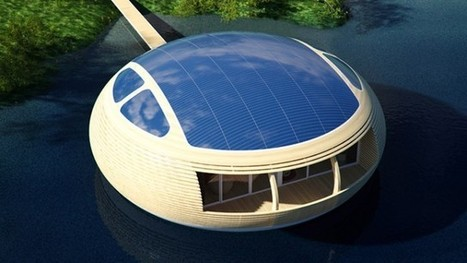 Maison solaire : Près de 100 m² habitables sur l'eau! | DIY | Scoop.it