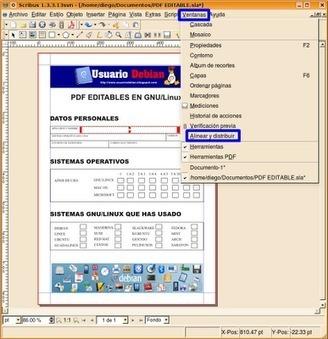 UsuarioDebian: Scribus, Crear formularios editables en pdf | Herramientas que potencian | Scoop.it
