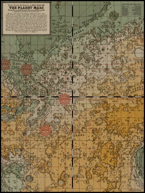 Here there be robots: A medieval map of Mars | Fantastic Maps | Scoop.it