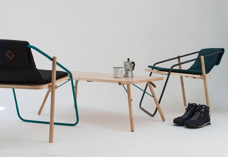 "Esprit ""CARAVAN"" pour la table et les chaises pliantes indoor / outdoor d'Eoin McNally 
