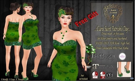 Ciara Saint Patrick's Day Group Gift By Nala Design | Teleport Hub - Second Life Freebies | Second Life Freebies | Scoop.it