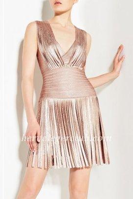 Rose Gold Draped Herve Leger Bandage Dress [Herve Leger Sleeveless Dresses] - $179.00 : Herve Leger Dresses | Cheap Herve Leger | Prom & Homecoming Dresses | Scoop.it