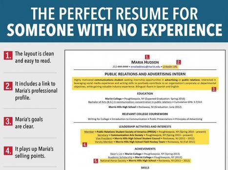 7 Reasons This Is An Excellent Resume For Someone With No Experience | Tips to Help You Get a Job | Scoop.it