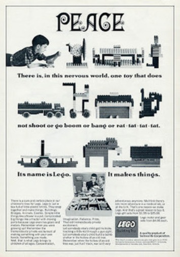 copyranter: Amazing 1960s Lego anti-war ad. | Antiques & Vintage Collectibles | Scoop.it