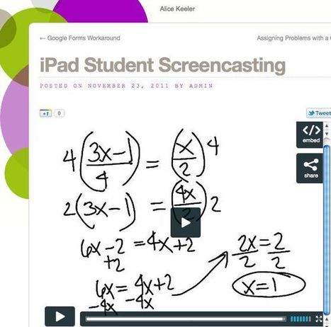 iPad Student Screencasting | Teacher Tech | Screencasting & Flipping for Online Learning | Scoop.it