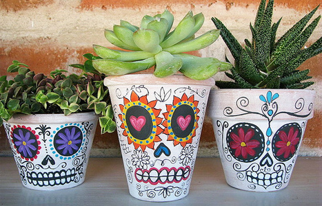 Spooky DIY: Day of the Dead Planters | 2Modern Blog | Creative Homestyle | Scoop.it