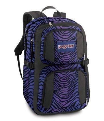 Cheap JanSport Merit Backpack (Black/Prism Purple Flashback Zebra) | cheaphomeappliances | Scoop.it