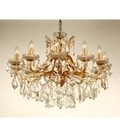 12 arm Gold Crystal Cut Chandelier | Interiors | Scoop.it