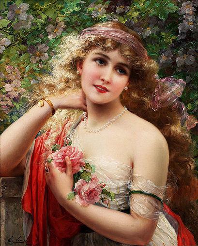 File:Emile Vernon-La printemps.jpg - Wikimedia Commons | Oil paintings | Scoop.it