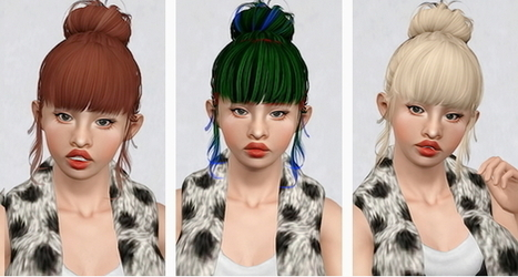 Butterfly`s 153 hairstyle retextured by Beaverhausen | Sims 3 Downloads | Scoop.it
