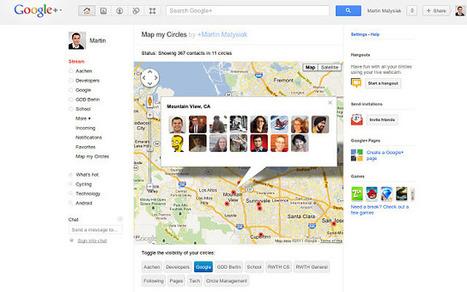 Comment localiser les cercles google plus sur google Maps? | Time to Learn | Scoop.it