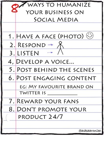 8 ways to humanize your business on social media | Ask Aaron Lee | Enjoying Your Social Media | Scoop.it