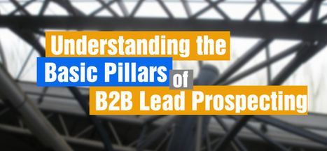 Understanding the Basic Pillars of Proper B2B Lead Prospecting   Tips for your lead generation   Scoop.it