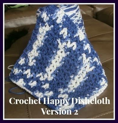 Tracy's Crochet Bliss: Crochet Happy Dishcloth Version 2-FREE Pattern | CrochetHappy | Scoop.it