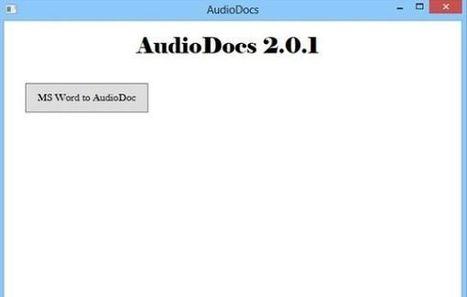 AudioDocs, para convertir documentos en archivos de audio   Las TIC y la Educación   Scoop.it