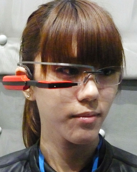 Software maker's glasses-type info device is one of world's lightest | Le Elearning dans l'univers connecté | Scoop.it