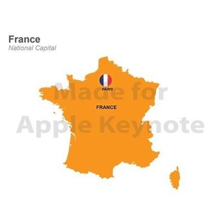 Map of France Template for Mac Keynote | Apple Keynote Slides For Sale | Scoop.it