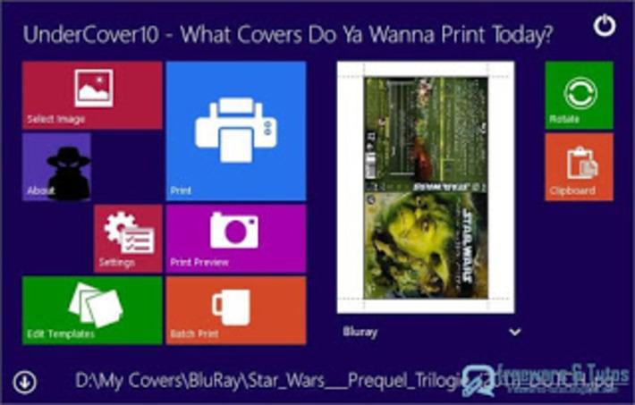 Undercover10 : un logiciel gratuit pour imprimer facilement vos pochettes de Bluray, DVD et CD ~ Freewares & Tutos   TIC et TICE mais... en français   Scoop.it