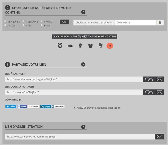Sharevox : des pages Web à durée de vie limitée | Solutions locales | Scoop.it