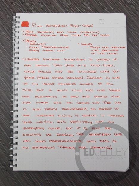 Pilot Iroshizuku: Fuyu-gaki Ink Review | Writing instruments | Scoop.it