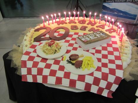 MAGNAR BEN COMPIE 20 ANNI E FESTEGGIA CON UNA  TORTA GIGANTE | EATING AND COOKING. | Scoop.it