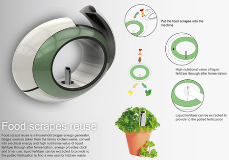 Food Scraps Reuse - Kitchen Appliance by Shih-Che Hsu, Chi-Ming Tien, Fang-wen Guo, Shih-Chun Wang & Yu-Tien Jheng | Seve Zubiri | Scoop.it