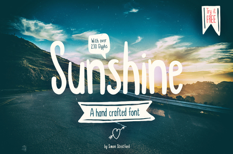 Sunshine a fun hand drawn display typeface | My Typefaces | Scoop.it