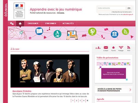 Apprendre avec le Jeu Numérique - Eduscol | Usages numériques et Histoire Géographie | Scoop.it