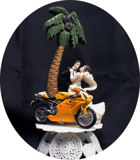 Yellow Ducati Diecast  Wedding Cake Topper |  Lacey's | Ductalk Ducati News | Scoop.it