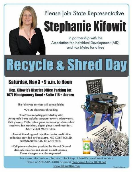Recycle electronics, shred papers, dump old meds this Saturday   Aurora IL   Scoop.it