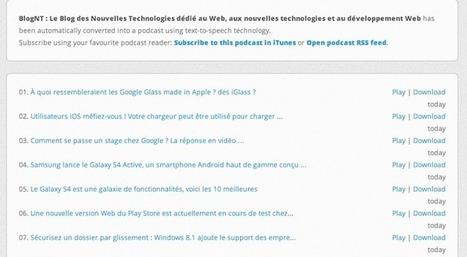 Convertir un blog en podcast avec Podcastomatic | BlogNT | outils numériques pour la pédagogie | Scoop.it